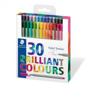 روان نویس نوک نمدی استدلر 30 رنگ ( جعبه مقوایی )– Staedtler Fineliner 30 colors