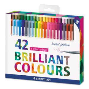 روان نویس نوک نمدی استدلر 42 رنگ ( جعبه مقوایی )– Staedtler Fineliner 42 colors