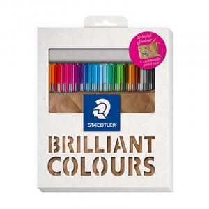 روان نویس نوک نمدی استدلر 20 رنگ (جعبه مقوایی)– Staedtler Fineliner 20 colors