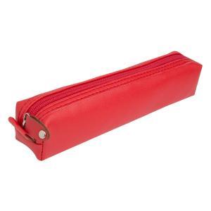 جامدادی چرمی پاستلی ( قرمز ) jcp11