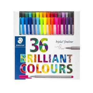 روان نویس نوک نمدی استدلر 36 رنگ جعبه مقوایی Staedtler Fineliner 36 colors