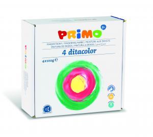 رنگ انگشتی 100گرم پریمو، بستهبندی مقوایی 4رنگ 2241TD100S4T