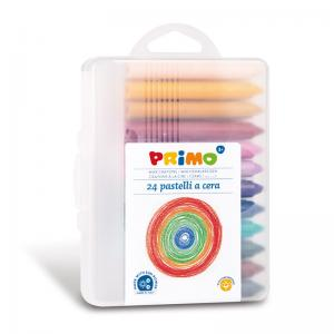 مداد شمعی پریمو، جعبه پلاستیکی 24رنگ 058PC24MXP