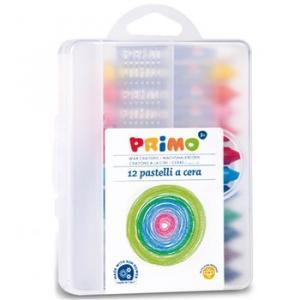 مداد شمعی پریمو، جعبه پلاستیکی 12رنگ 057PC12MXP