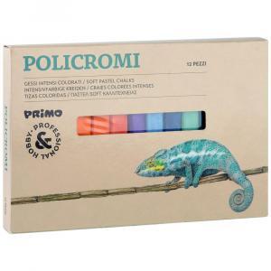 پاستل گچی لفافدار پریمو، جعبه مقوایی، 12 رنگ 020GC12I