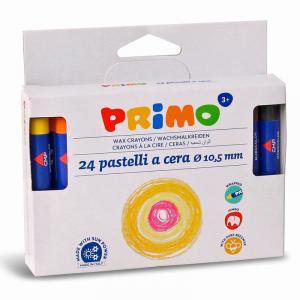 مداد شمعی لفافدار پریمو، جعبه مقوایی 24 رنگ 052PC24I