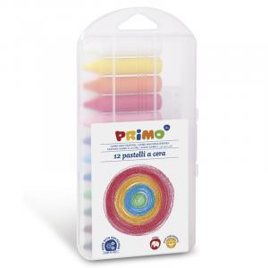 مداد شمعی جامبو پریمو، جعبه پلاستیکی 12 رنگ 060PC12AP