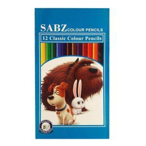 مداد رنگی 12 رنگ سبز 12drb