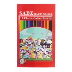 مداد رنگی 12 رنگ سبز 12po