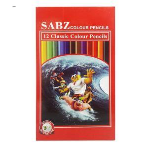 مداد رنگی 12 رنگ سبز 12boe
