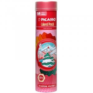 مداد رنگی 24 رنگ استوانه ای پیکاسو PI