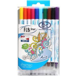 روان نویس 10 رنگ دو سر پریمک مدل F&B Liner