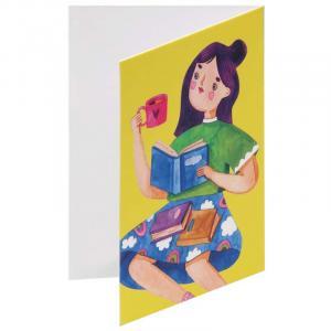 کارت پستال سحر طرح Books & Coffee
