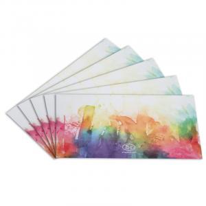 پاکت نامه 5 عددی مدل Watercolor