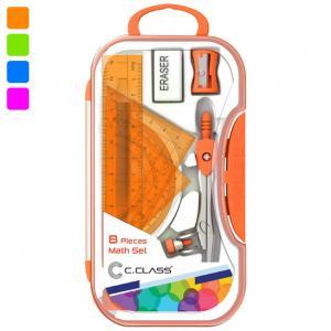 ست ریاضی مدادی سی کلاس نارنجی