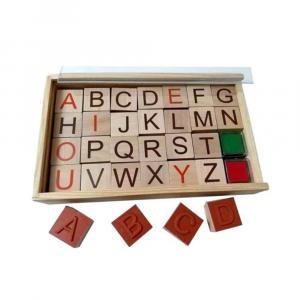 مهر چوبی حروف انگیسی (جعبه چوبی)