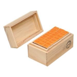 مهر حروف جعبه چوبی (حروف بزرگ)