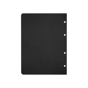 کاغذ کلاسور کوچک شطرنجی سیاه بسته 20 برگی