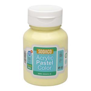 رنگ اکریلیک پاستلی سوداکو زرد روشن کد 02773