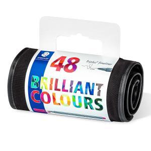 روان نویس استدلر 48 رنگ همراه با کیف چرمی مشکی Staedtler Triplus