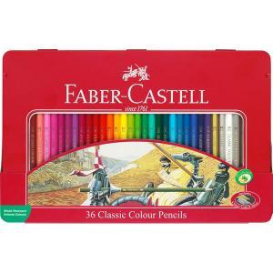 مداد رنگی فابر کاستل کلاسیک - جعبه فلزی 36 رنگ