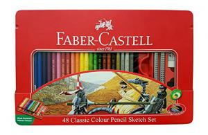 مداد رنگی فابر کاستل - 48 رنگ کلاسیک جعبه فلزی