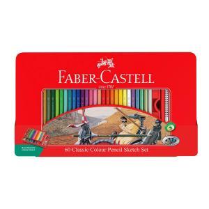 مداد رنگی فابر کاستل - 60 رنگ کلاسیک جعبه فلزی