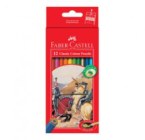 مداد رنگی فابر کاستل کلاسیک - جعبه مقوایی 12 رنگ