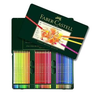 مداد رنگی فابر کاستل پلی کروموس - 60 رنگ جعبه فلزی