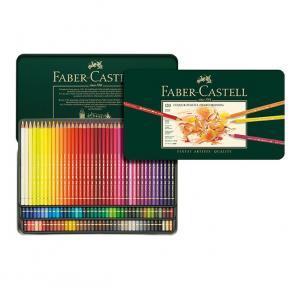 مداد رنگی فابر کاستل پلی کروموس - 120 رنگ جعبه فلزی