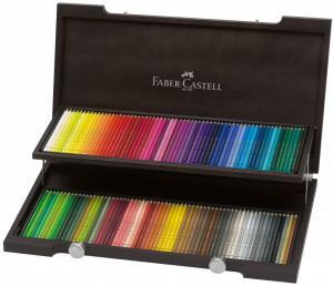 مداد رنگی فابر کاستل پلی کروموس - جعبه چوبی دو طبقه 120 رنگ