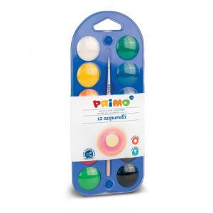 آبرنگ جعبه پلاستیکی 12رنگ پریمو