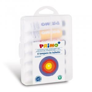 گواش پریمو، تیوب آلومینیومی 18 میل، بستهبندی پلاستیکی 6 رنگ 745T6GAP