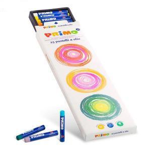 پاستل روغنی پریمو با لفاف کاغذی، جعبه مقوایی 25 رنگ 081PO25N