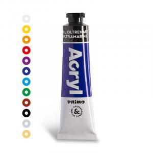 رنگ آکریلیک پریمو، تیوب آلومینومی 18میل، آبی اولترامارین 500
