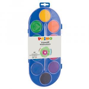 آبرنگ جامبو پریمو، جعبه پلاستیکی 10رنگ + پالت+ قلممو 120A10SG