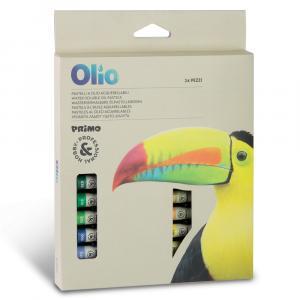 پاستل روغنی حرفهای پریمو با لفاف کاغذی، جعبه مقوایی 24 رنگ 0803POA24