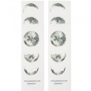 برچسب شفاف جمع و جور طرح ماه بسته 2 عددی