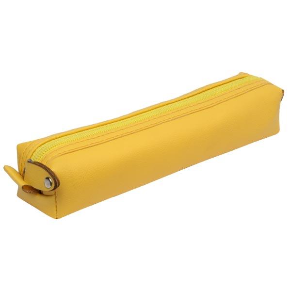 جامدادی چرمی پاستلی (زرد) jcp06
