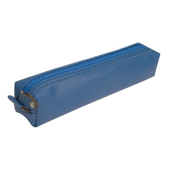 جامدادی چرمی پاستلی ( آبی ) jcp13