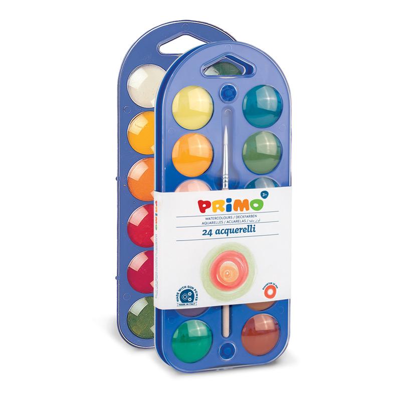 آبرنگ جعبه پلاستیکی 24رنگ پریمو 111A24B