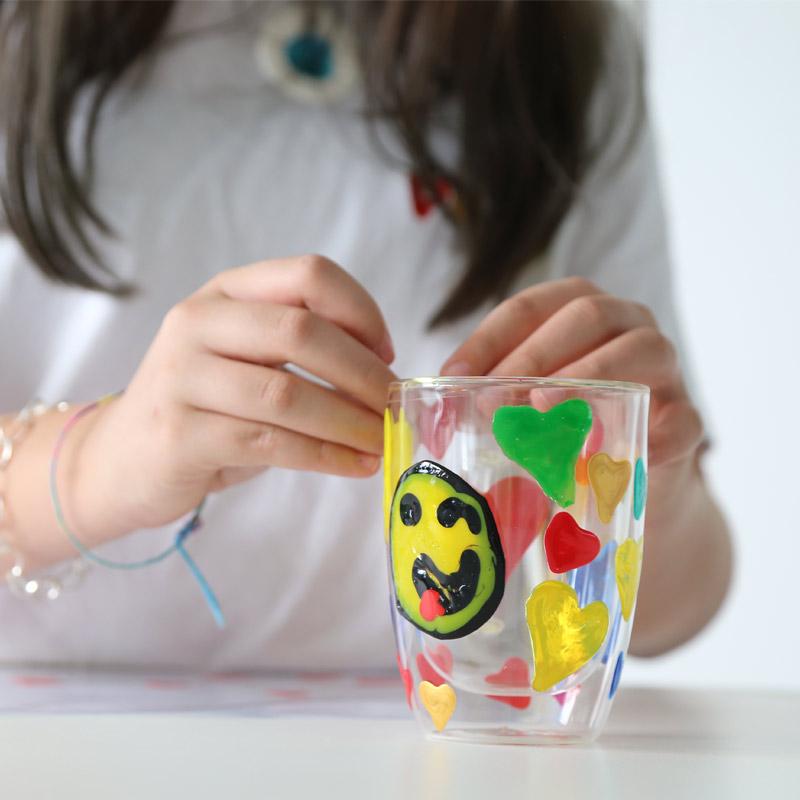 رنگ شیشه، بطری 75میل پریمو، بستهبندی 6تایی با لوازم جانبی