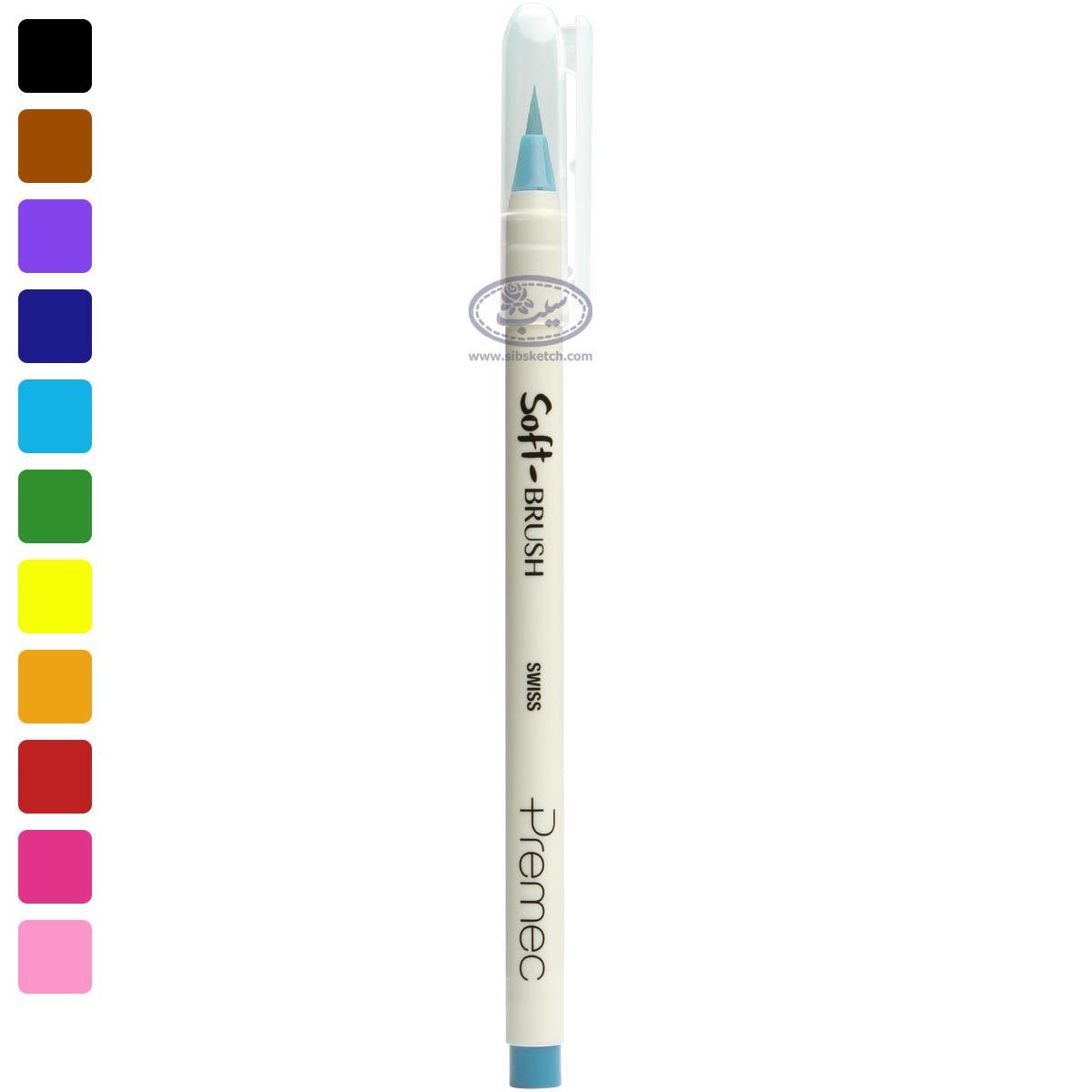 ماژیک پریمک مدل Soft Brush آبی روشن