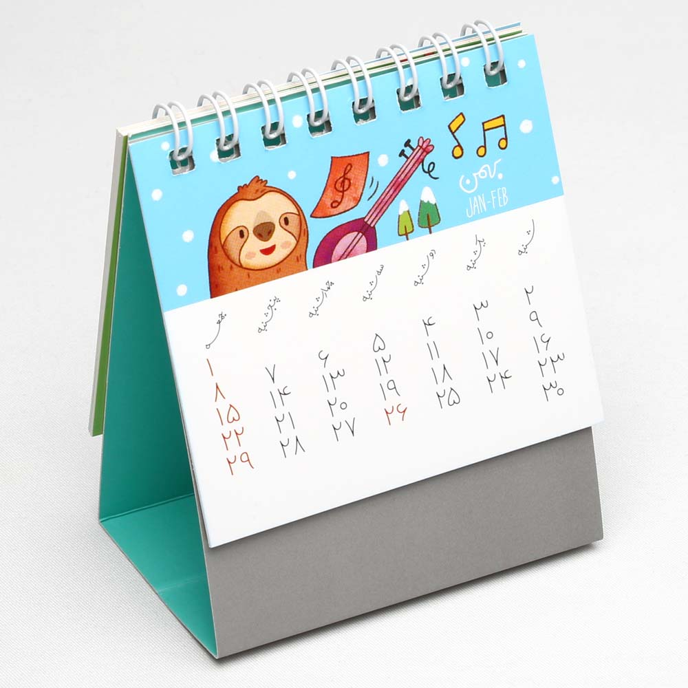 تقویم رومیزی فانتزی و کوچک 1400 مدل تیمبو