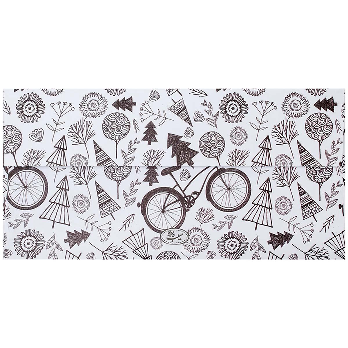 پاکت نامه 5 عددی مدل Bicycle