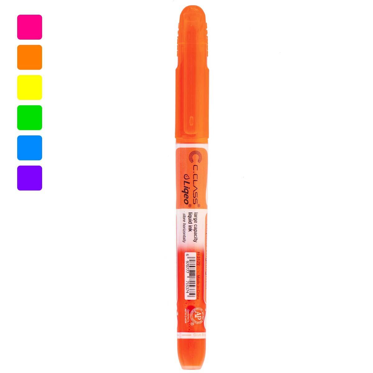 ماژیک هایلایتر قلمی متوسط سی کلاس مدل H-3129 نارنجی