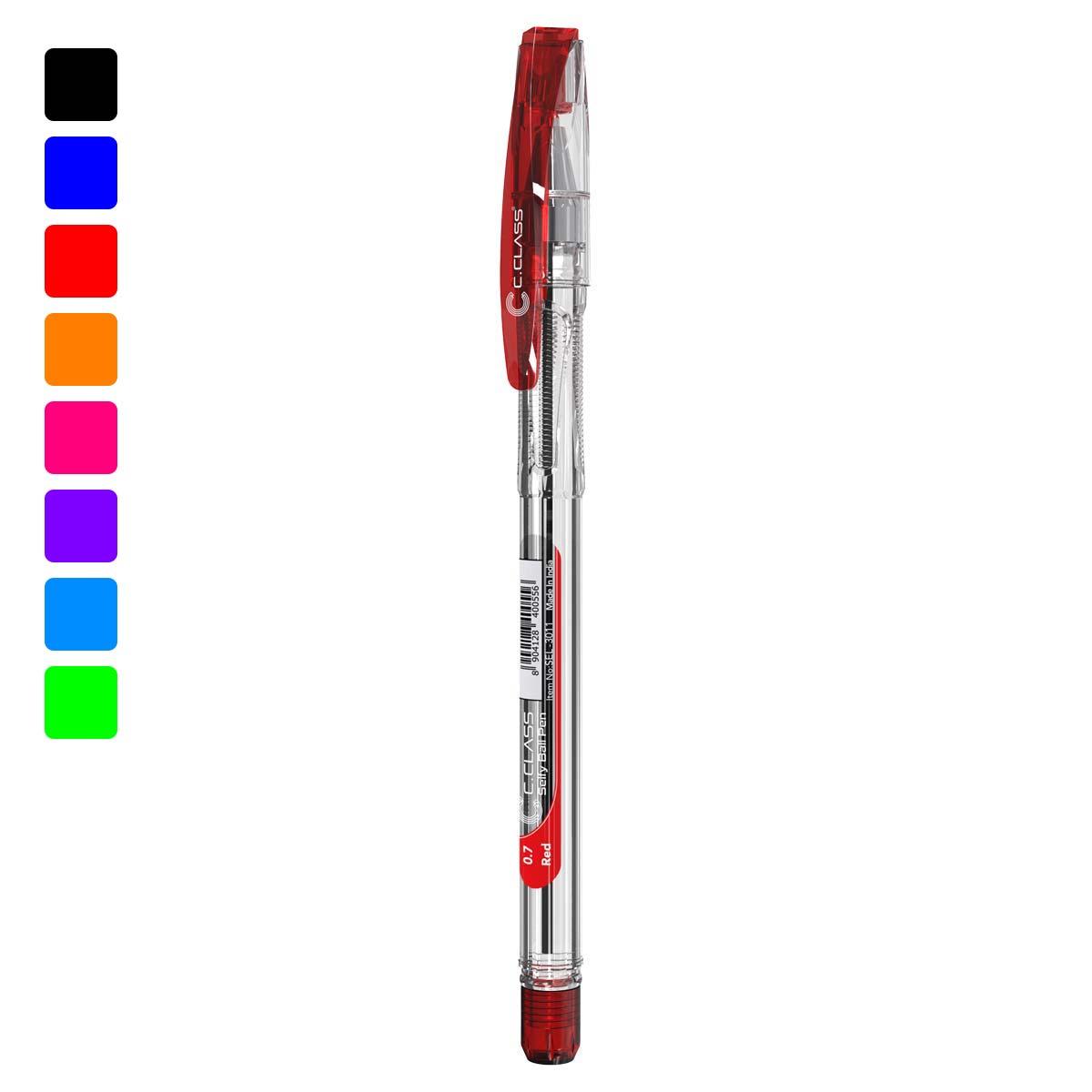 خودکار سی کلاس مدل Selfy Ball Pen قرمز