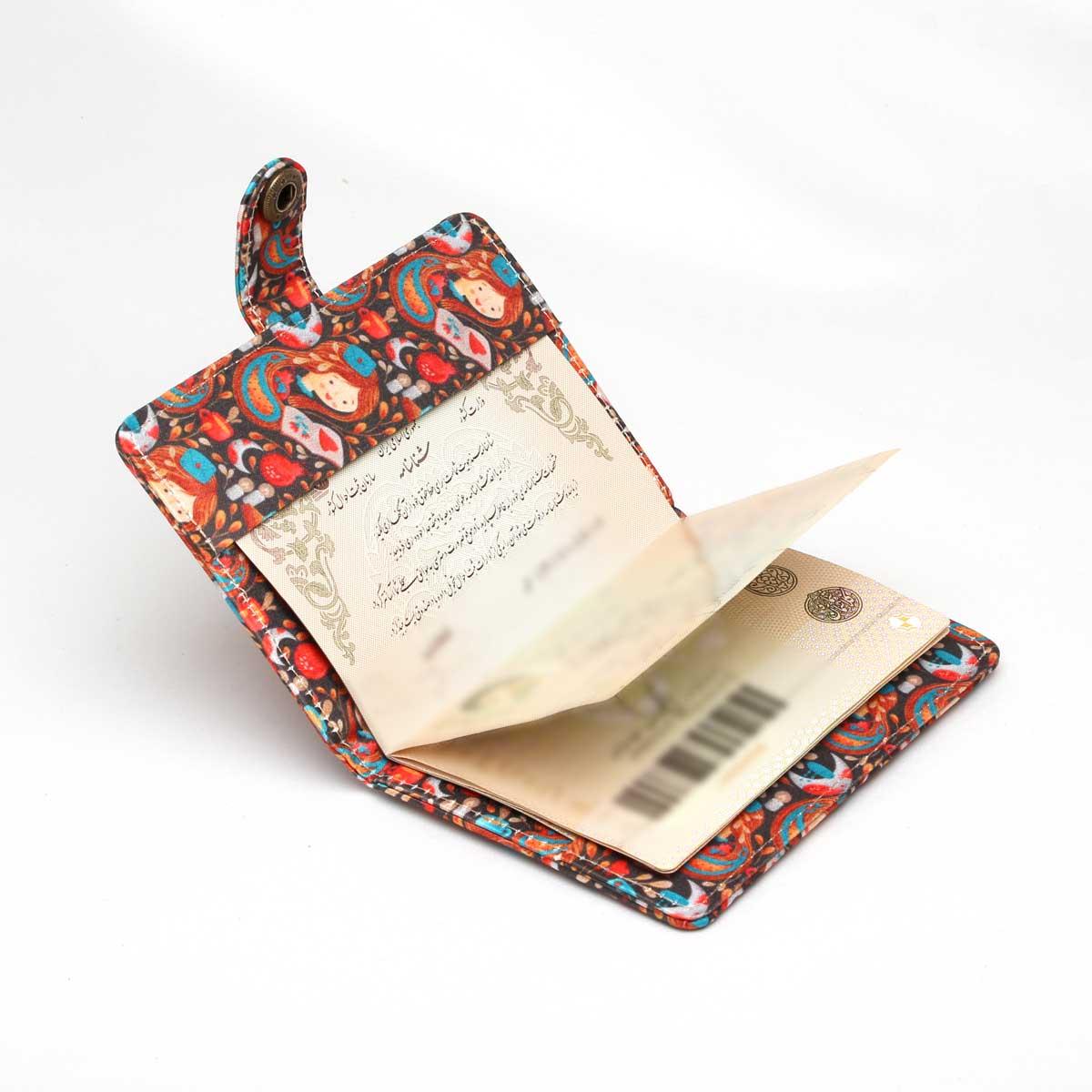 جلد شناسنامه و گذرنامه دکمه دار jsh42