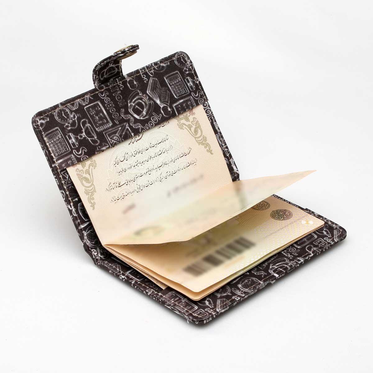 جلد شناسنامه و گذرنامه دکمه دار jsh44