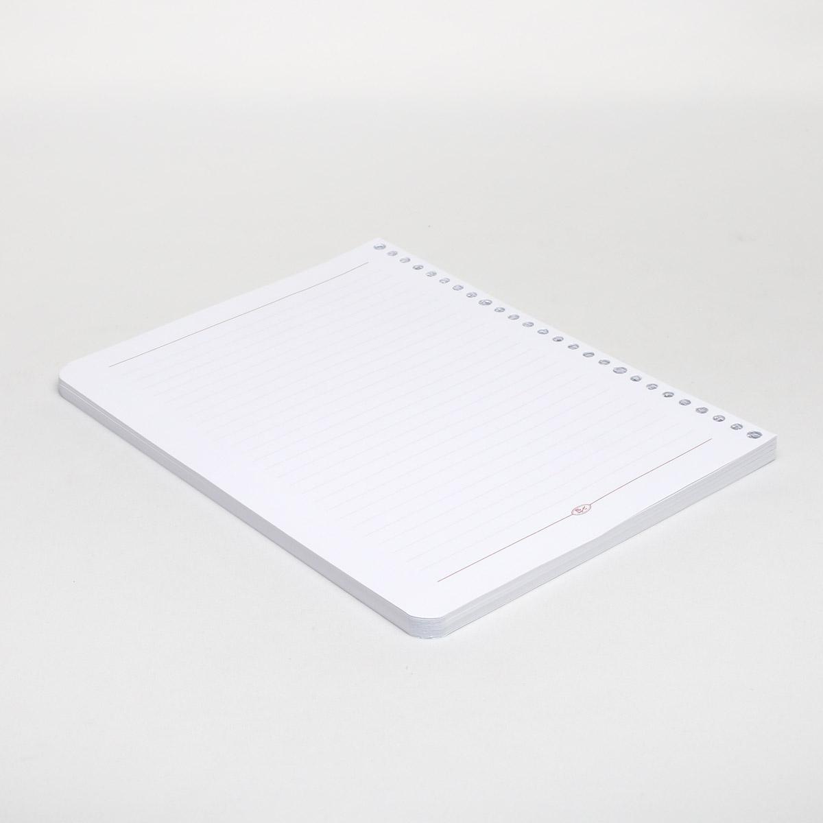 کاغذ کلاسور 26 حلقه تحریر خط دار بسته 80 برگی